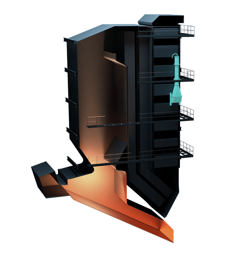 Biomass boiler illustration