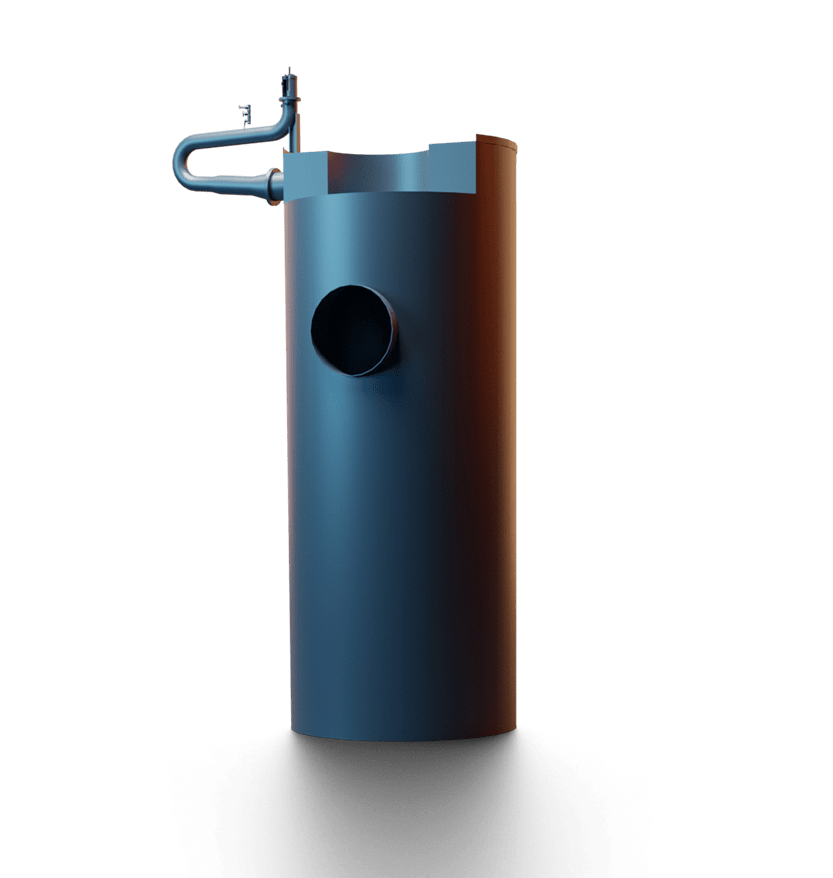 Smoke tube boiler illustration