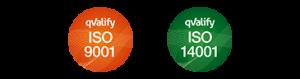 ISO 9001 ISO 14001 logo